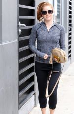 AMY ADAMS in Leggngs Leaves a Gym in Beverly Hills 04/22/2015
