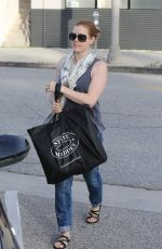 AMY ADAMS Out Shopping in Los Angeles 04/29/2015