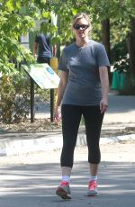 AMY SMART Out Hiking at Treepeople in Beverly Hills