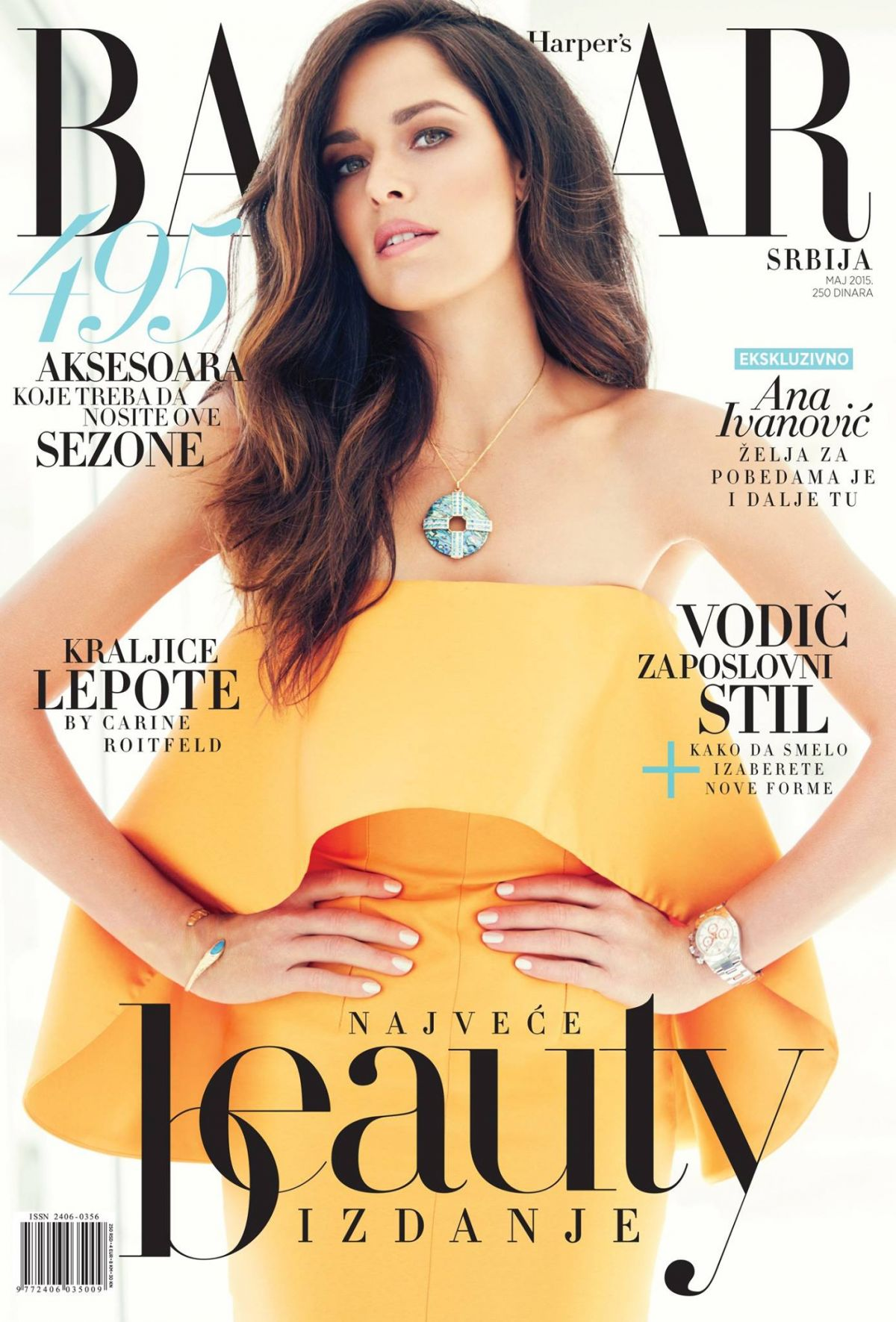 ANA IVANOVIC on the Cover of Harper