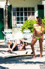 ANASTASIA ASHLEY iN Bikini on the Set of a Photoshoot in Florida