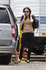 ANGELINA JOLIE Arrives to See Brad Pitt on the Set in New Orleans