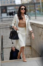 ANGELINA JOLIE Leaves Lincoln Center in New York 04/24/2015