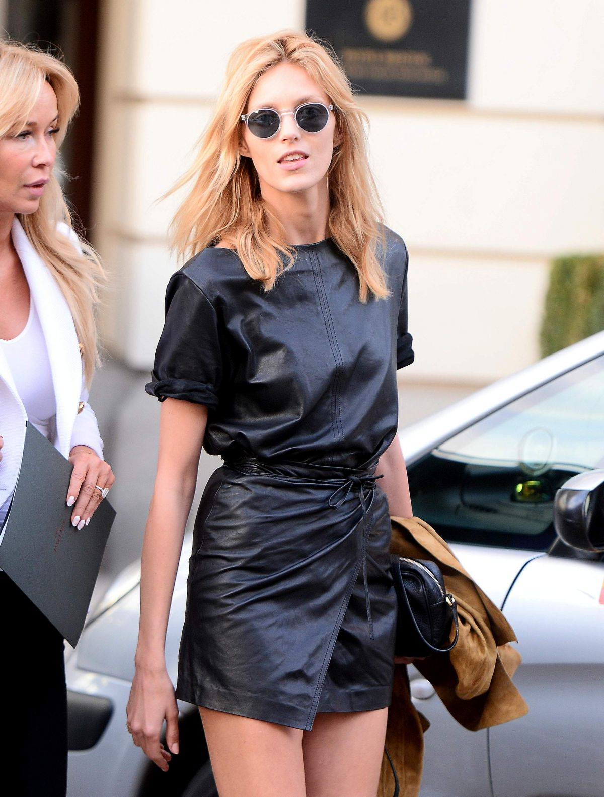 ANJA RUBIK Leaves Her Hotel in Warsaw