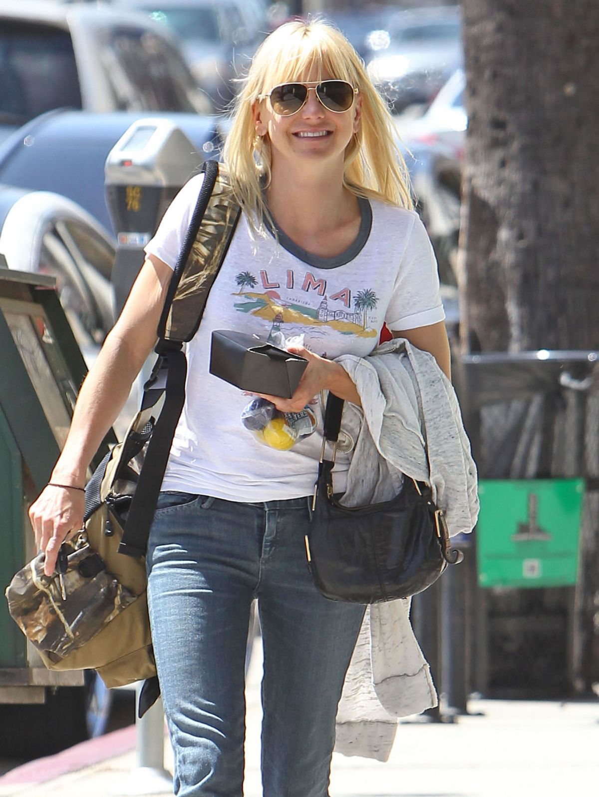 ANNA FARIS in Jeans Out and About in Los Angeles