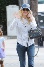 ANNA FARIS in Jeans Out in Studio City 04/23/2015