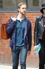 ANNE HATHAWAY and Adam Shulman Out and Abou in New York 04/26/2015