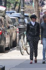 ANNE HATHAWAY and Adam Shulman Out and About in New York 04/19/2015