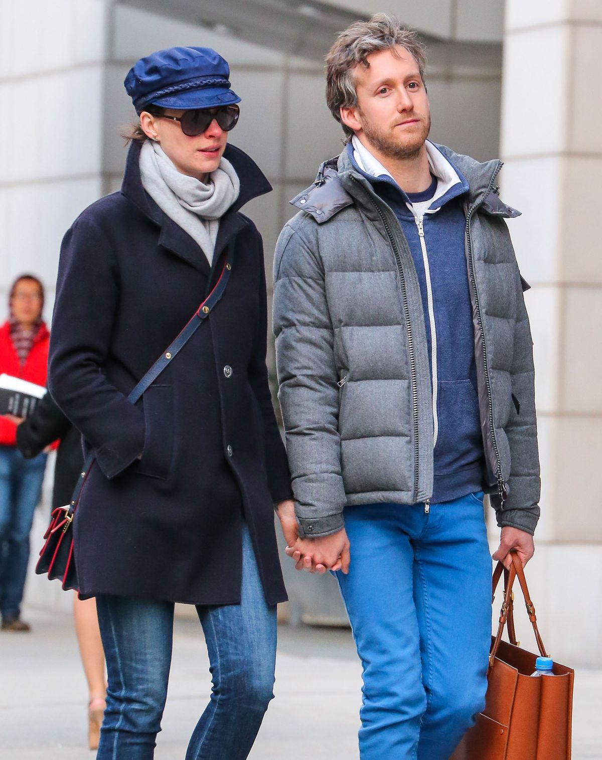 ANNE HATHAWAY and Adam Shulman Out in New York 04/23/2015