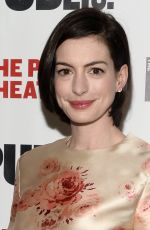 ANNE HATHAWAY ar Grounded Opening Night Celebration in New York