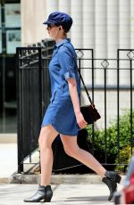 ANNE HATHAWAY Out and About in New York 04/18/2015