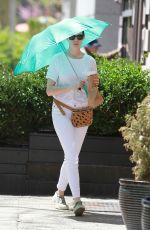 ANNE HATHAWAY Out and About in New York 04/29/2015