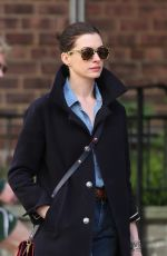 ANNE HATHAWAY Out in New York 04/25/2015