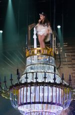 ARIANA GRANDE Performs at Honeymoon Tour in Inglewood