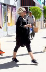 ASHLEE SIMPSON Leaves a Gym in Studio City