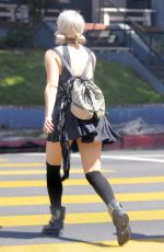 ASHLEY ROBERTS Out and About in Los Angeles
