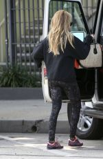 ASHLEY TOSDALE Leaving a Gym in West Hollywood