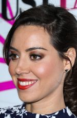 AUBREY PLAZA at Justfab Ready-to-wear Launch Party in West Hollywood