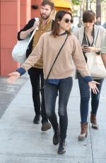 AUBREY PLAZA Out for Lunch in Beverly Hills