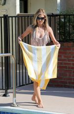 AUDRINA PATRIDGE in Swimsuit at a Pool in Los Angeles