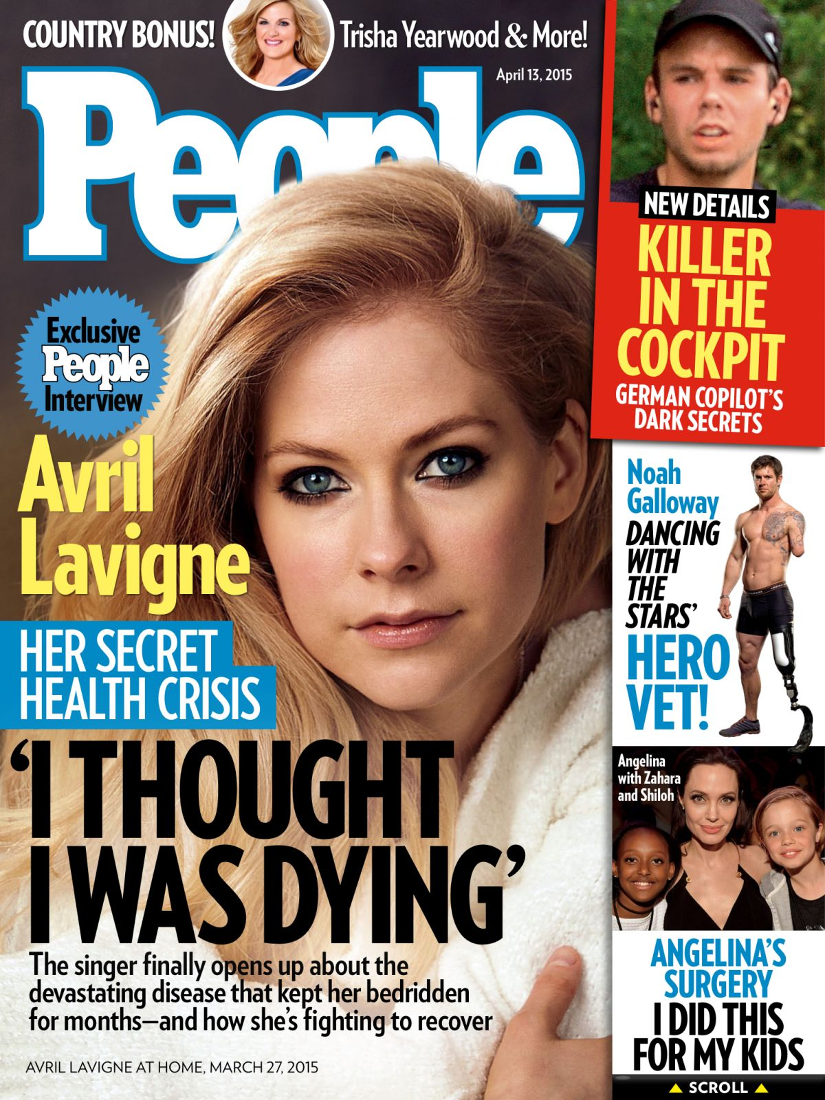 AVRIL LAVIGNE in People Magazine, April 2015 Issue