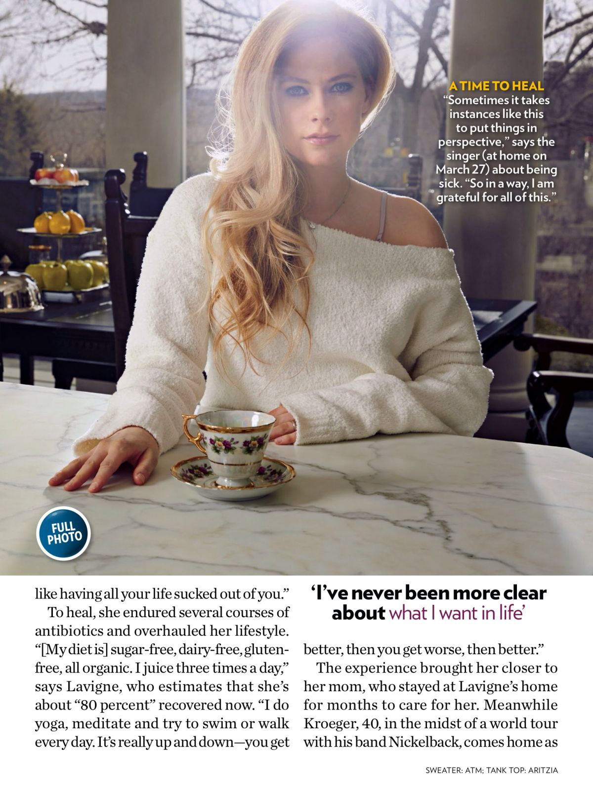 AVRIL LAVIGNE in People Magazine, April 2015 Issue – HawtCelebs