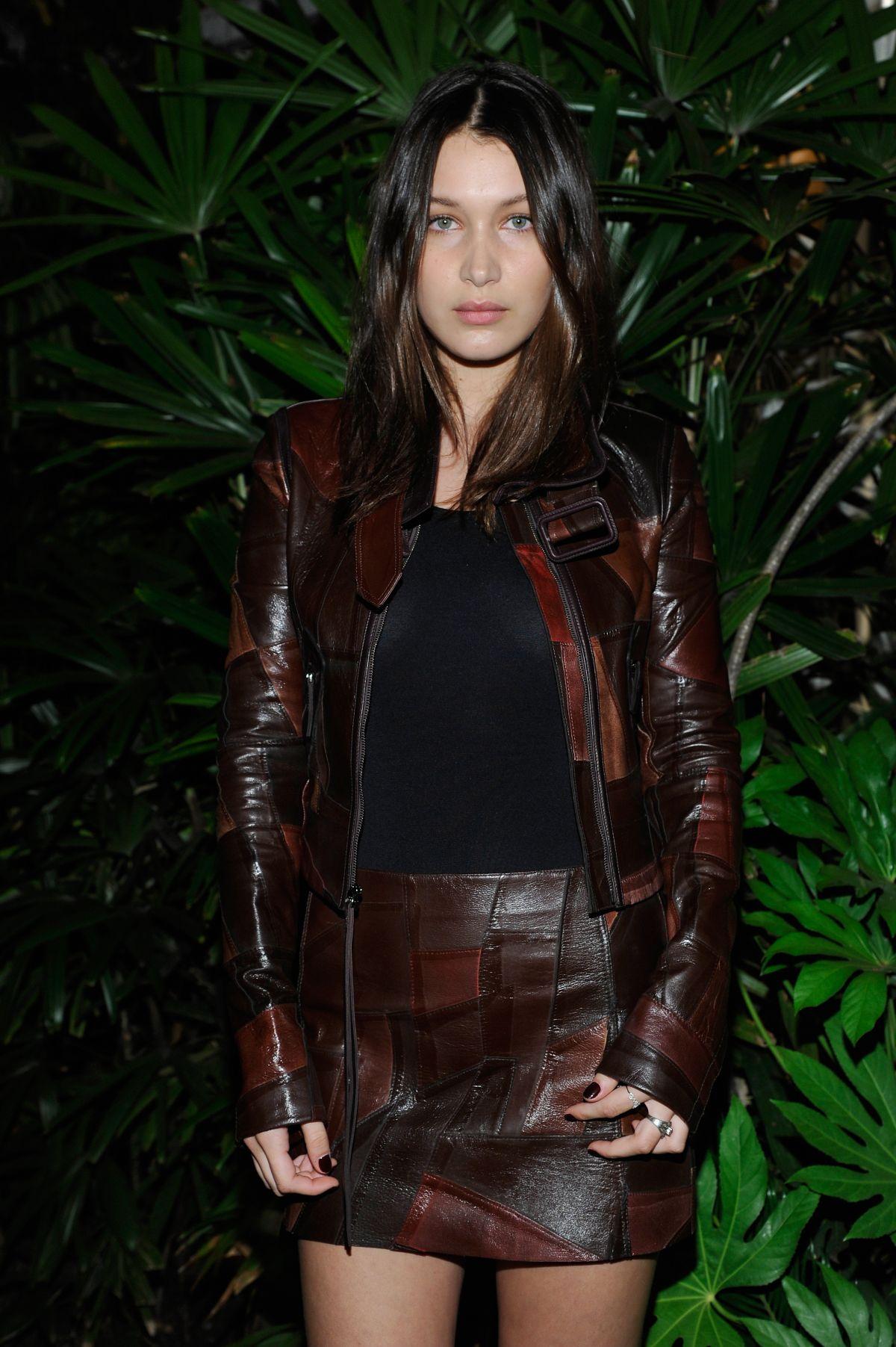 Bella Hadid At Ralph Lauren Runway Show At New York: BELLA HADID At Calvin Klein Jeans Celebration Launch Of