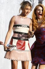 BELLA THORNE and HAILEY BALDWIN on the Set of a Photoshoot in New York