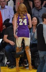 BELLA THORNE and Ryan Nassif  Kissing at Lakers Game in Los Angeles