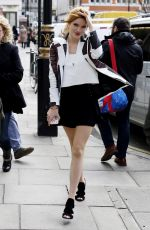 BELLA THORNE Arrives at Bauer Group Radio in London