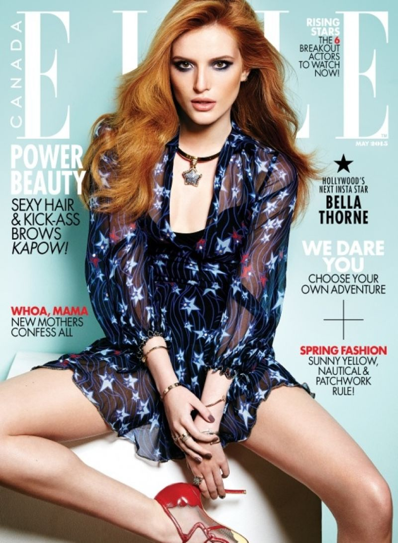 BELLA THORNE in Elle Magazine, Canada May 2015 Issue