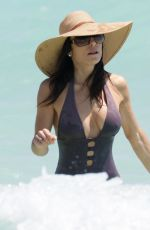 BETHENNY FRANKEL in Swimsuit at a Beach in Miami