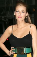 BLAKE LIVELY Arrives at Late Night Show with Seth Meyers