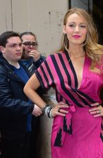 BLAKE LIVELY Arrives at Live with Kelly and Michael in New York