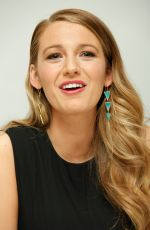 BLAKE LIVELY at Age of Adaline Press Conference in Beverly Hills