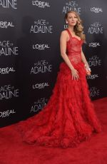 BLAKE LIVELY at The Age of Adaline Premiere in New York