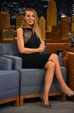 BLAKE LIVELY at The Tonight Show Starring Jimmy Fallon in New York 04/21/2015