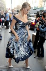 BLAKE LIVELY Leaves Her Hotel in New York 04/21/2015