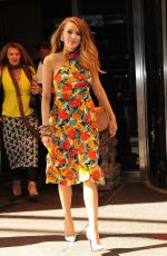 BLAKE LIVELY Leaves Her Hotel in New York 04/22/2015