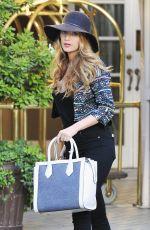 BLAKE LIVELY Leaves Her New York Hotel 04/21/2015
