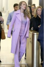 BLAKE LIVELY Leaves SiriusXM Studios in New York