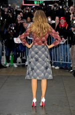 BLAKE LIVELY on the Set of Good Morning America in New York