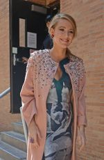 BLAKE LIVELY Out and About in New York 04/22/2015