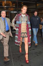 BLAKE LIVELY Out in New York 04/22/2015
