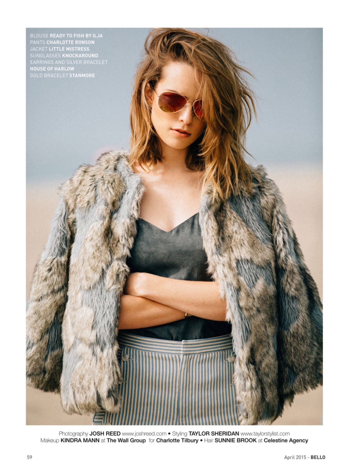 BRIDGIT MENDLER in Bello Magazine, April 2015 Issue