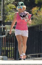 BRITNEY SPEARS at the Skate Park in Los Angeles