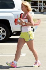 BRITNEY SPEARS in Shorts and Tank Top Leaves Target in Thousand Oaks