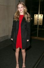 BRITT ROBERTSON at the Today Show in New York