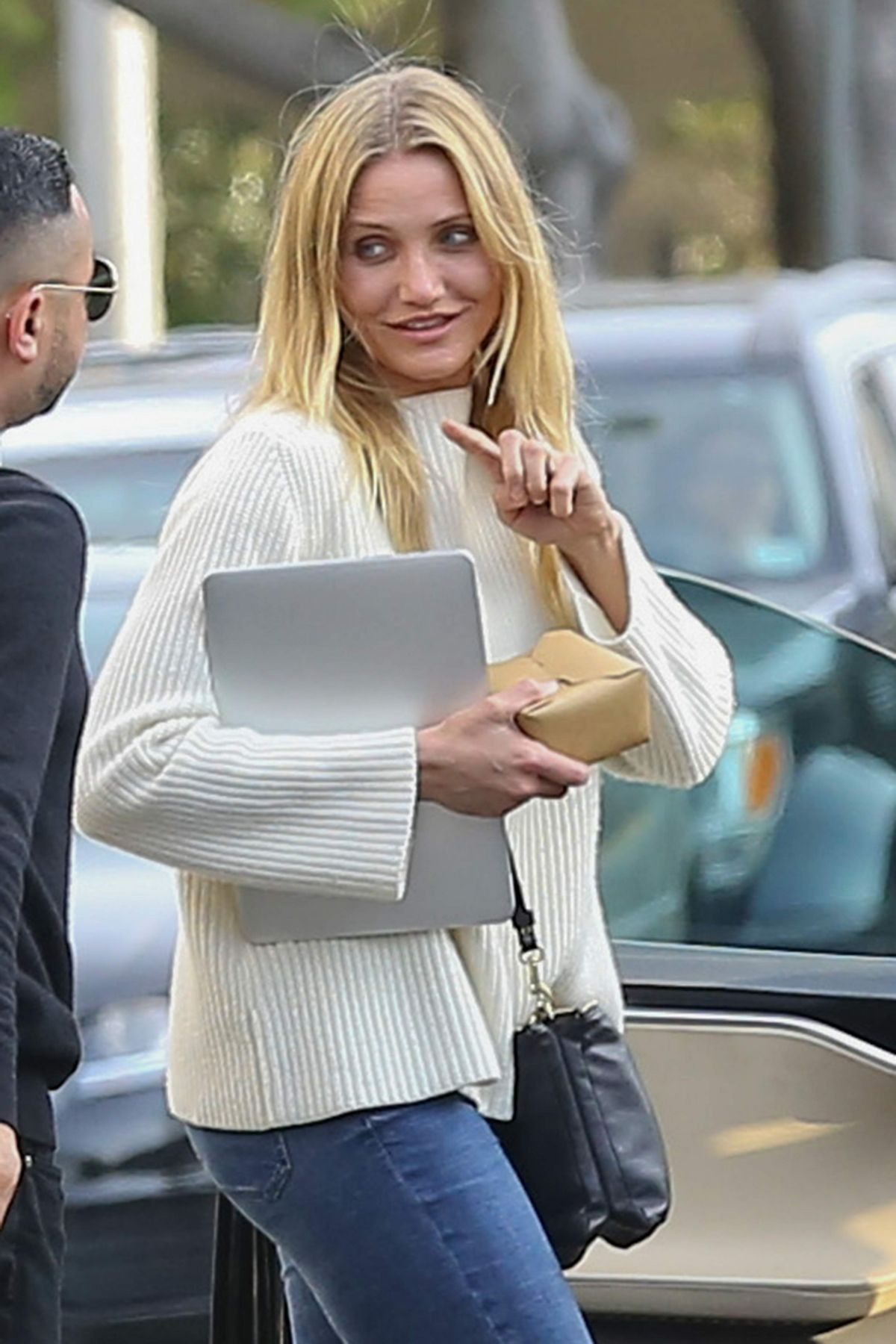CAMERON DIAZ Leaves A.O.C. Restaurant in West Hollywood 04/22/2015