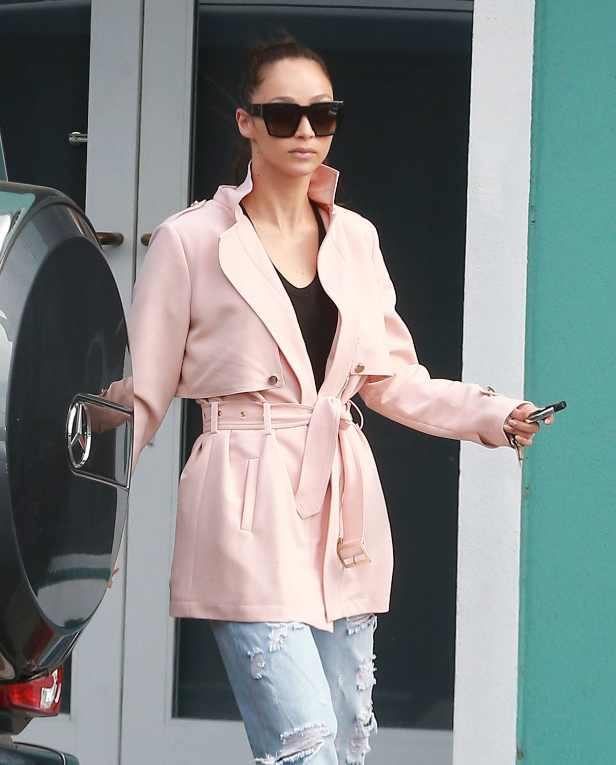 CARA SANTANA Out and About in Los Angeles 04/21/2015
